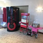 Our Photobooth, Popcorn Machine and Candy Floss Machine at a Wedding Reception in Essex.