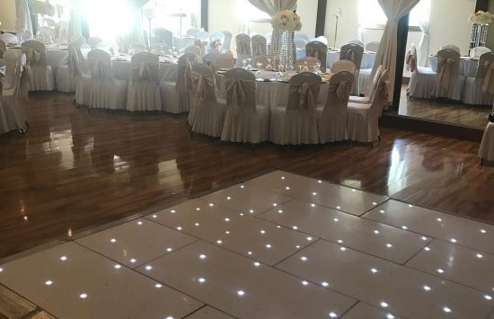 A Team Occasion's LED Dance Floor at a Wedding in Chiswick.