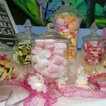 Jars of Treats and Sweets on our Sweet Cart